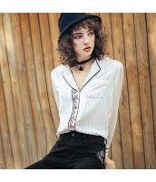ガーベラレディース シャツ 長袖 着やせ 刺繍入り 春物 rp11947-1