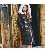 ガーベラレディース ダウンコート ロングコート ファーフード 刺繍入り 冬物 rp11986-1