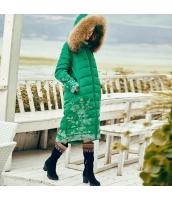 ガーベラレディース ダウンコート ロングコート ラクーンファーフード 刺繍入り 冬物 rp11989-1