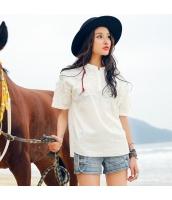 ガーベラ スタントカラー 前立て プルオーバー 刺繍 スリット 半袖 シャツ rp9063-1