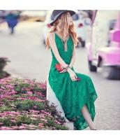 ガーベラ Vネック 刺繍 ファスナー スカート 袖なし シフォン ワンピース rp9169-1
