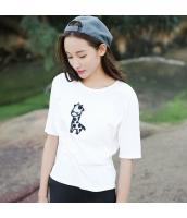 ガーベラレディース Tシャツ・カットソー 半袖 丸首 ラグラン袖 刺繍 rp9235-1