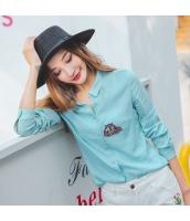 ガーベラレディース シャツ 長袖 刺繍 コーデアイテム rp9250-1