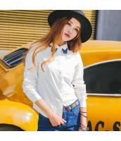 ガーベラレディース シャツ 長袖 刺繍 ストレート コーデアイテム rp9262-1