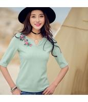 ガーベラレディース Tシャツ・カットソー 刺繍 rp9329-1