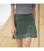 ガーベラレディース フレアスカート ミニスカート 刺繍 Aライン カジュアル レトロ シンプル rp9337-1