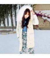 ガーベラレディース フード付き フード付き 刺繍 ダウンコート ミディアム丈 rp9461-1