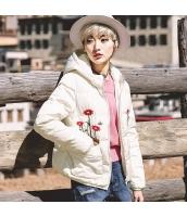 ガーベラレディース フード付き 刺繍 ゆったり ショート丈 ダウンジャケット rp9465-1