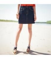 ガーベラレディース Aライン ポケット デニムスカート ミニスカート rp9496-1