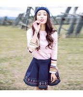 ガーベラレディース 刺繍 Aライン ギャザースカート ミニスカート rp9719-1