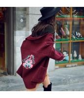 ガーベラレディース スカーフ襟 刺繍 ゆったり 厚手 カーディガン ニット・セーター 長袖 rp9788-1