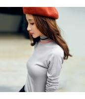 ガーベラレディース スタンドカラー あったかい 着やせ ニットウェア セーター rp9958-2
