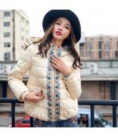 ガーベラレディース フード付き 刺繍 ショート丈 長袖 ダウンジャケット rp9994-1