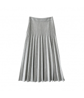 ガーベラレディース プリーツスカート 膝丈スカート コーディアイテム w10079-2