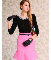 【即納】ひざ丈スカート■タイト■マーメイド裾-w3324 tk-w3324-pk-xl【カラー:ピンク】【サイズ:XL】