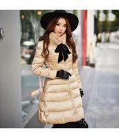 コート ダウンコート ミディアム ファッション ファー襟  w8155-1