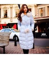 コート ダウンコート ロング丈 ファッション 細身 ファー襟 暖い  w8168-3