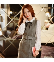 シャツ 柄物 長袖 ファッション 格子  w8221-1