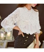 シャツ 無地 七分袖 ゆったり ファッション スタントカラー  w8328-1