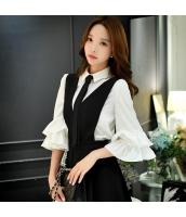シャツ 無地 七分袖 ファッション 細身  w8335-1