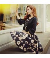 スカート ミニ 台形 ファッション プリント ハイウエスト 着やせ  w8382-1