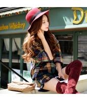パーカー プルオーバー ゆったり ファッション あわせ易い 格子 ショート丈  w8385-1