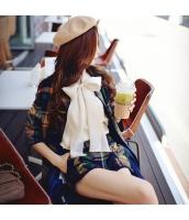 シャツ 無地 長袖 ファッション ゆったり リボン  w8565-1