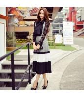 ワンピース 膝丈 袖なし ファッション ハイウエスト 大裾 Aライン・フレアワンピ w8723-1