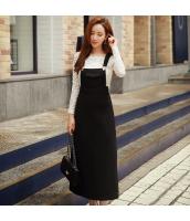 ワンピース ロング 袖なし ファッション 細身 w8946-1