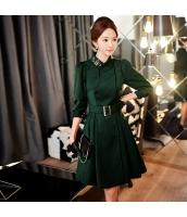 コート トレンチコート ミディアム ファッション ウェスト缔める 細身 w9002-1