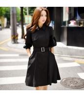 コート トレンチコート ミディアム ファッション ウェスト缔める 細身 w9002-2