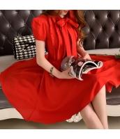 ワンピース 膝丈 半袖・五分袖 バルーンワンピ ファッション w9031-1