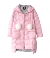 ガーベラレディース 着やせ あったかい フード付き ダウンコート ミディアム丈コート w9408-1