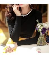 ガーベラレディース 花柄襟 プルオーバー ニットウェア セーター 長袖 w9422-1