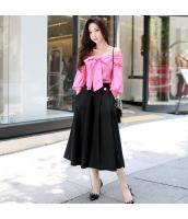 ガーベラレディース コーデアイテム 大きい裾 七分丈 ガウチョ・スカーチョ ワイドパンツ w9451-1