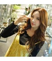 ガーベラレディース 着やせ 花柄襟 コーデアイテム Tシャツ・カットソー 長袖 w9500-1