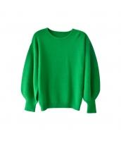 ガーベラレディース ニット・セーター セーター 長袖 ランタン袖 w9819-1