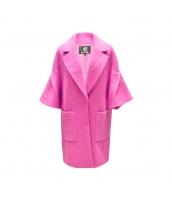 ガーベラレディース フリースコート ミディアムコート ワイド袖 w9913-4
