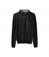 ガーベラレディース ニット・セーター セーター 長袖 蝶々リボンネクタイ w9969-1