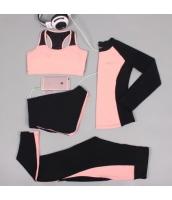 ヨガ フィットネス トレーニング 長袖Tシャツ+タンクトップ+重ね着風パンツ(取り外し可能)4点セット アンサンブル スポーツウェア ピラティス ジム ダンス ランニング シェイプアップ ダイエット xmn1701-7