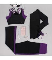 ヨガ フィットネス トレーニング 長袖Tシャツ+タンクトップ+パンツ3点セット アンサンブル スポーツウェア ピラティス ジム ダンス ランニング シェイプアップ ダイエット xmn1703-1