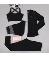 ヨガ フィットネス トレーニング 長袖Tシャツ+タンクトップ+重ね着風パンツ(取り外し可能)4点セット アンサンブル スポーツウェア ピラティス ジム ダンス ランニング シェイプアップ ダイエット xmn1706-1