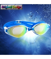 ビーチグッズ 水泳ゴーグル スイミングゴーグル スイムゴーグル 男女兼用 黄緑レンズx青色 yd3057-1