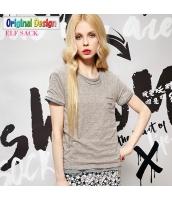 半袖Tシャツ クルーネック/丸首 無地 多色【ブラウン】 [S/M/L/XL/2XL] yj4918-5