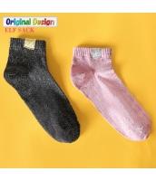 ガーベラレディース 靴下 ショートソックス くるぶしソックス 2足セット yj6038-1