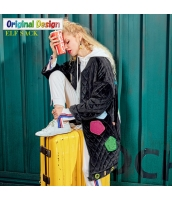 ガーベラレディース キルティングコート ミディアムコート 刺繍 ジップアップ 中綿入り yj6070-2