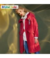 ガーベラレディース ミディアムコート ゆったり フード付き レトロ調 yj6119-1
