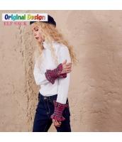 ガーベラレディース タートルネック 着やせ 格子 袖口 Tシャツ ニットウェア セーター yj6151-1
