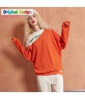 ガーベラレディース ゆったり 重ね着風 文字入り 刺繍 スウェット 長袖 yj6325-1