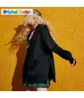 ガーベラレディース ゆったり ストリートファッション ショート丈 ジップアップパーカー 長袖 yj6347-1